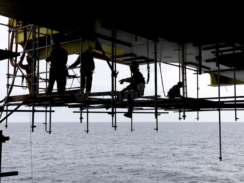 Zeeolie en Gas de industrielevensstijl stock afbeelding