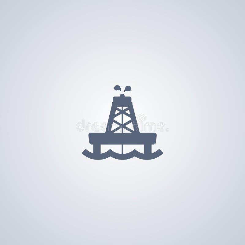 Zeeolie, vector beste vlak pictogram stock illustratie