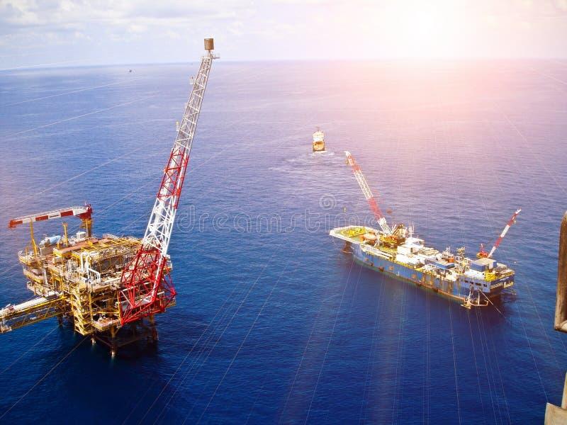 Zeeolieraffinaderij royalty-vrije stock foto