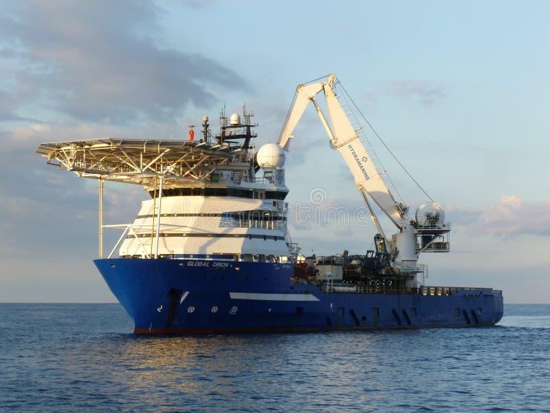 Zeeondersteuningsvaartuig stock fotografie