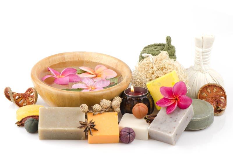 Zeep die van natuurlijke ingrediënten wordt gemaakt. stock afbeelding