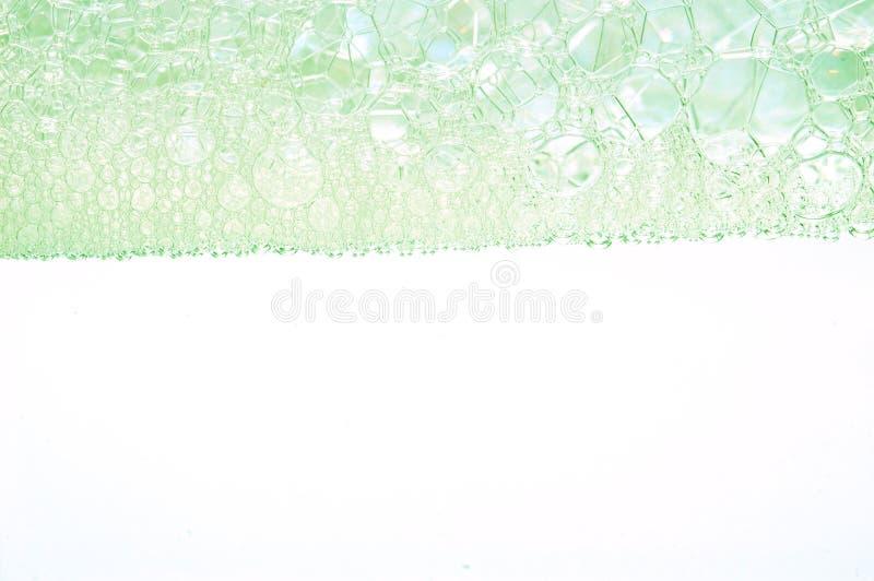 Zeepschuim en bellenachtergrond royalty-vrije stock afbeelding