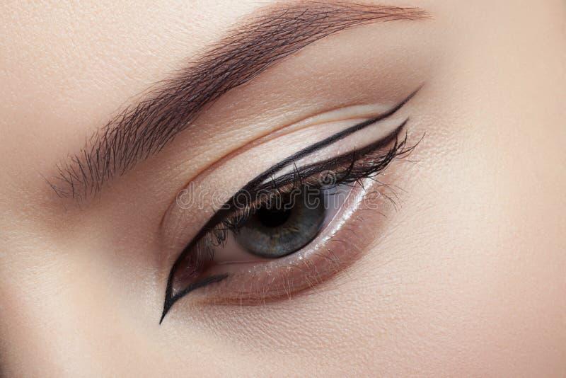 Zeer aardige make-up royalty-vrije stock foto