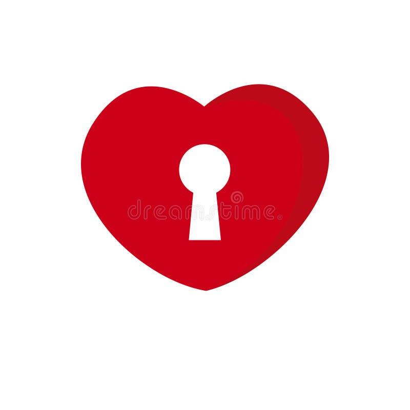Zeer belangrijk het gatenpictogram van de valentijnskaartendag op witte achtergrond voor grafisch en Webontwerp, Modern eenvoudig royalty-vrije illustratie