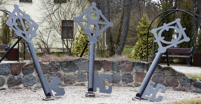 Zeer belangrijk Vierkant in Sigulda, het Nationale Park van Gauja stock afbeelding