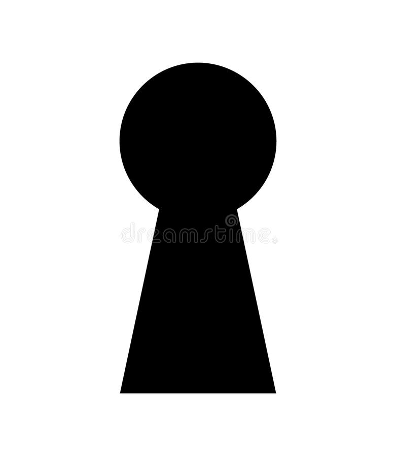 Zeer belangrijke gatenachtergrond De illustratie van het sleutelgatsilhouet royalty-vrije illustratie