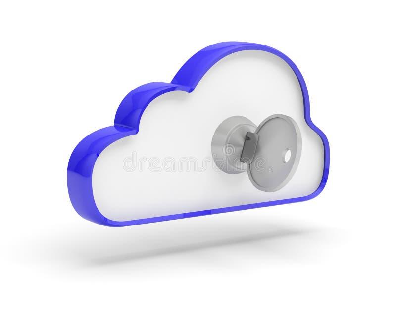 Zeer belangrijke het slotveiligheid van wolkengegevens royalty-vrije illustratie