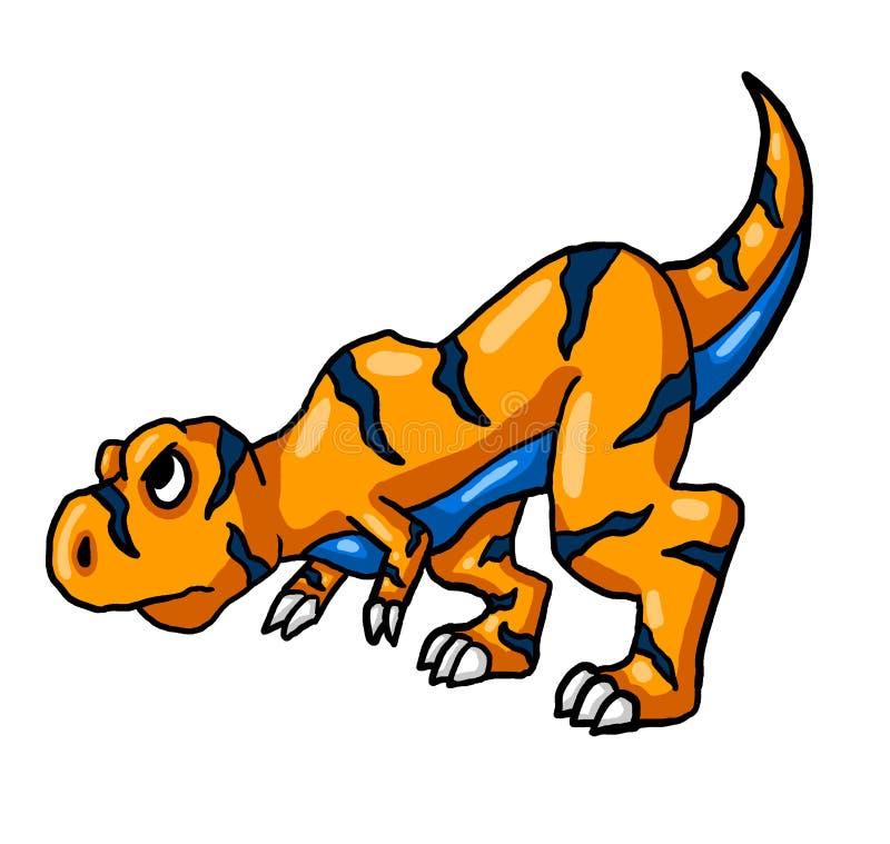 Zeer Boos Oranje T Rex vector illustratie