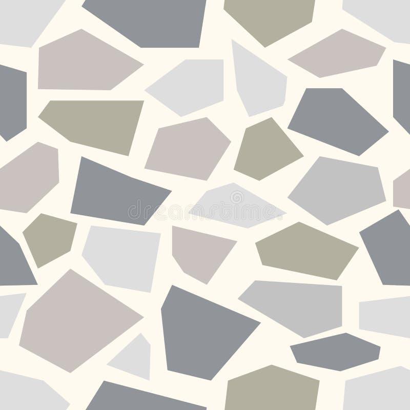 Zeer gedetailleerd en echt De naadloze achtergrond van de steen royalty-vrije illustratie