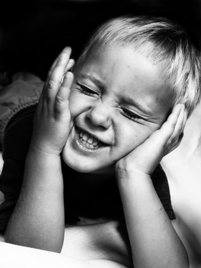 Zeer gelukkige jongen royalty-vrije stock foto