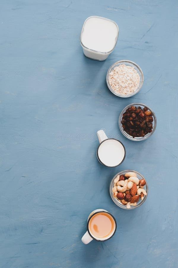 Zeer gemakkelijk, licht en gezond ontbijt voor een gezonde levensstijl royalty-vrije stock fotografie