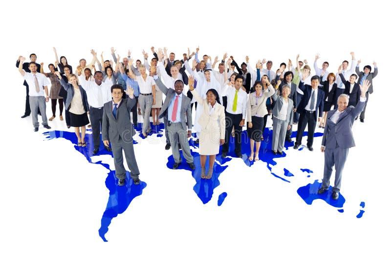 Zeer Grote Multi-etnische Commerciële Groep royalty-vrije stock foto