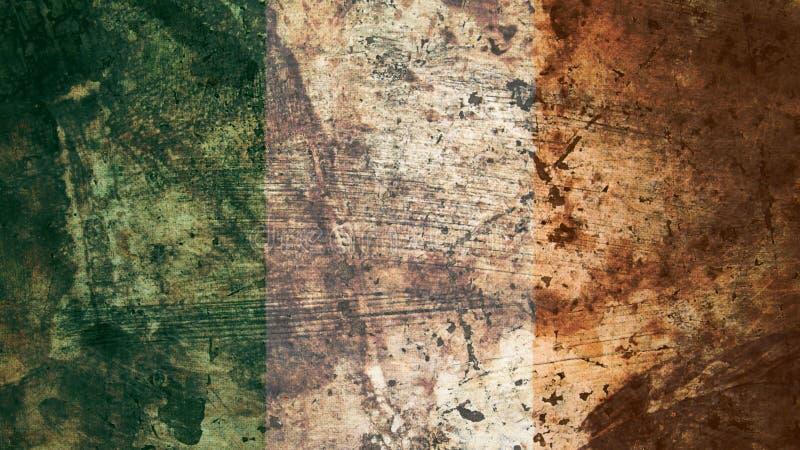 Zeer Grungy Ierse Vlag, van Achtergrond Ierland Grunge Textuur vector illustratie