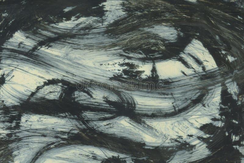 ZEER HOOGTEresolutie Waterverfslag Behang met waterverfeffect De zwarte acryltextuur van de verfslag op wit royalty-vrije stock afbeelding