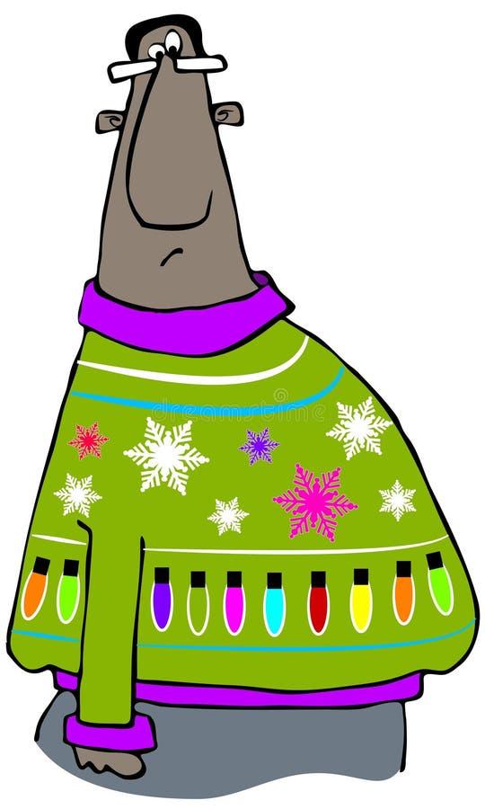 Zeer lelijke Kerstmissweater royalty-vrije illustratie