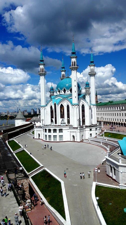 Zeer mooie moskee in Kazan het Kremlin royalty-vrije stock afbeelding