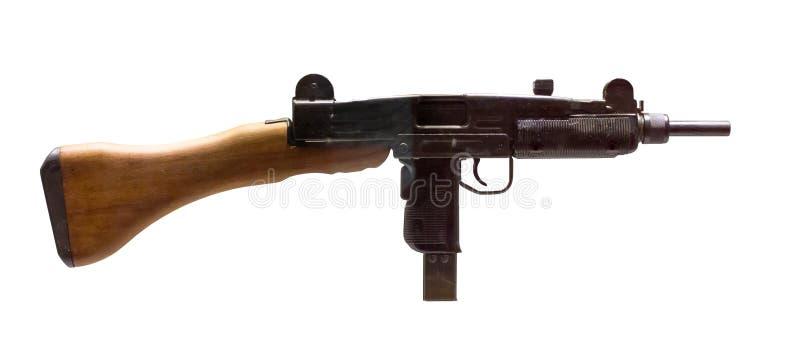 Zeer oud geïsoleerd machinepistool royalty-vrije stock foto's
