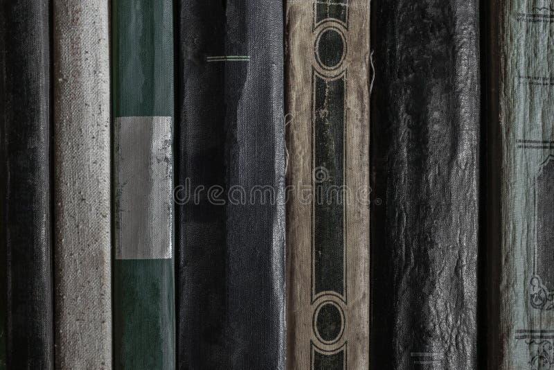 Zeer oude en stoffige van de boek zijdekking oppervlakte als achtergrond stock foto
