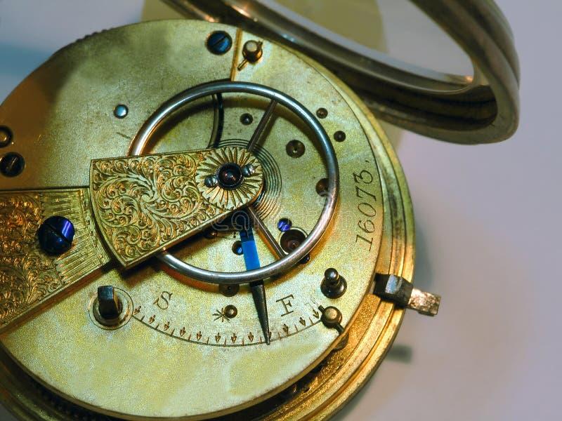 Zeer oude klok stock afbeelding
