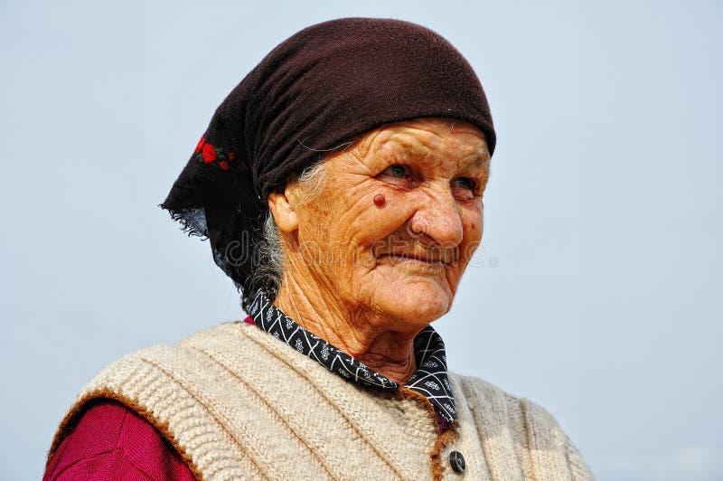 Zeer oude vrouw royalty-vrije stock afbeeldingen
