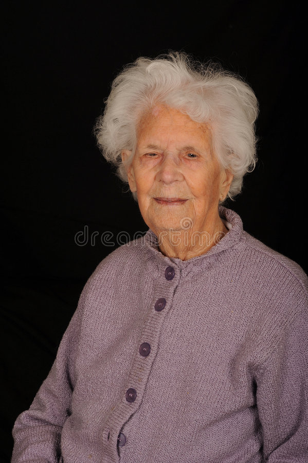 Zeer Oude Vrouw royalty-vrije stock foto