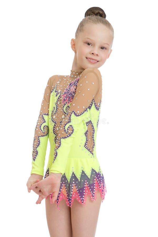 Zeer slank en mooi jong meisje royalty-vrije stock afbeelding