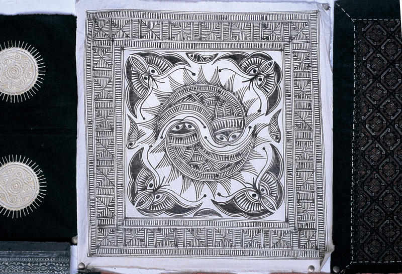 De batiks van Hmong stock foto