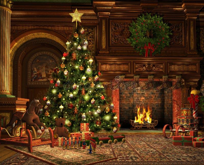 Zeer Vrolijke Kerstmis stock illustratie
