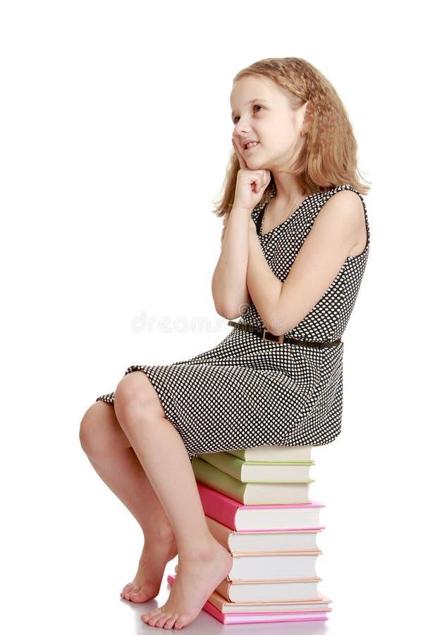 Zeer zoete, charmante, licht-haired tiener stock afbeelding