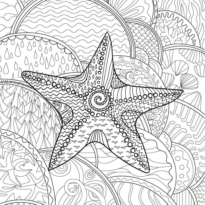 Zeester met hoge details vector illustratie