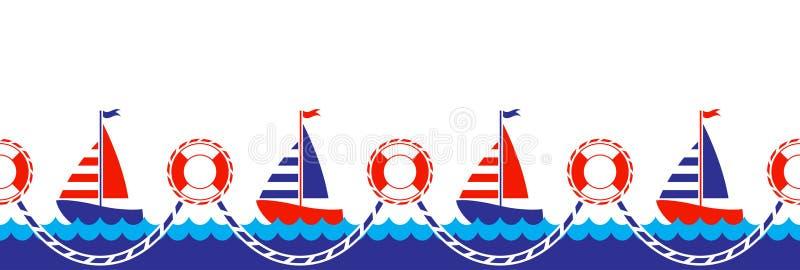 Zeevaart grens stock illustratie
