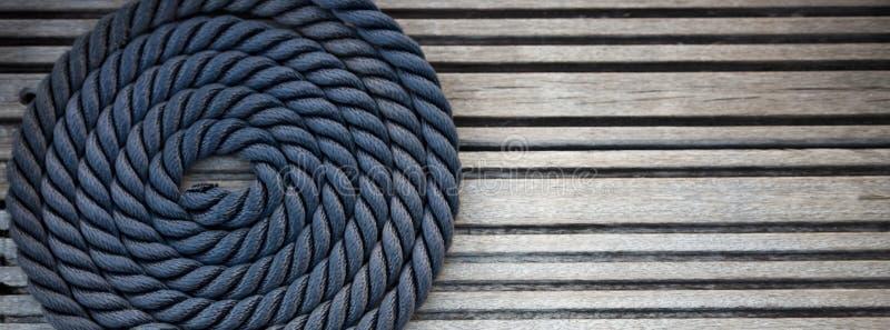 Zeevaart meertroskabel stock fotografie