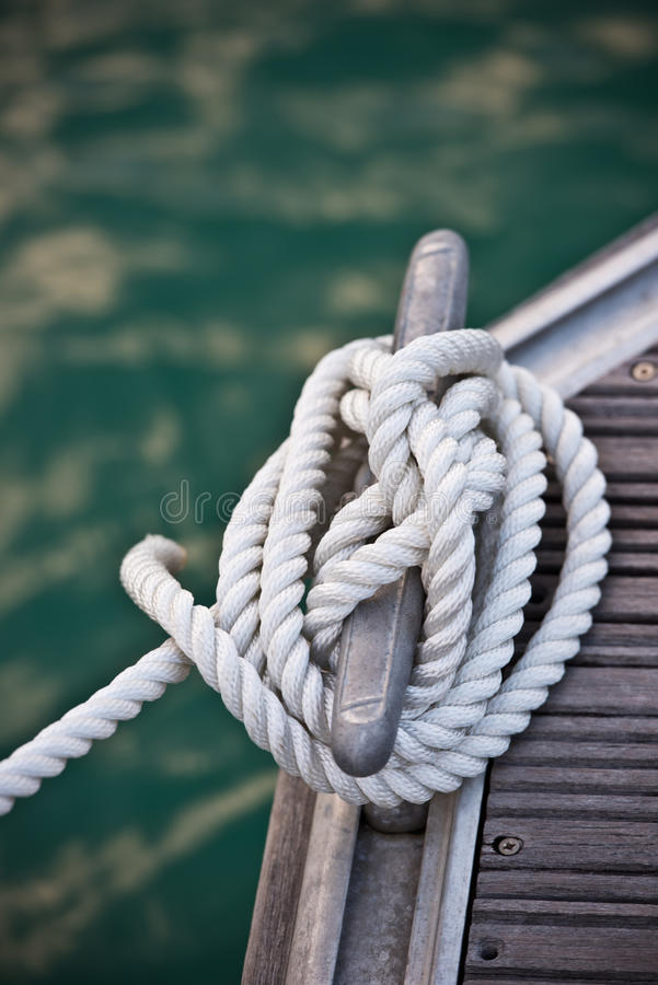 Zeevaart meertroskabel stock foto