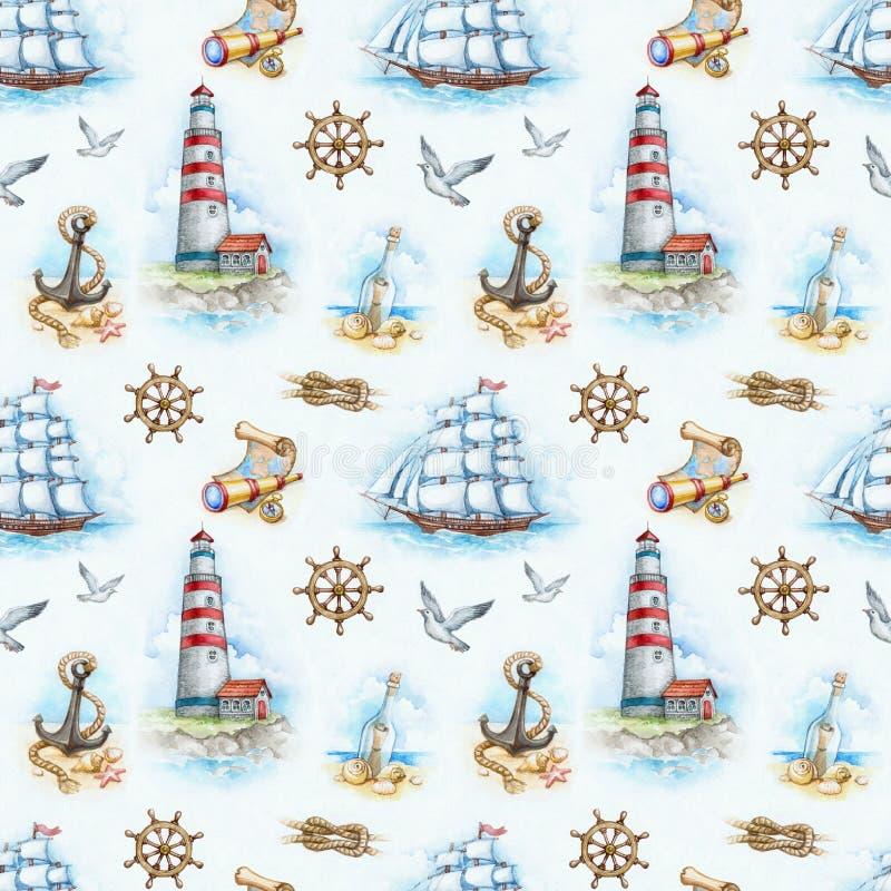 Zeevaart naadloos patroon