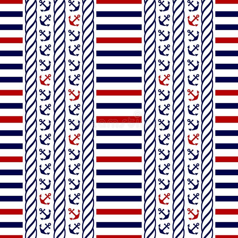Zeevaart naadloos patroon. Vectorillustratie.