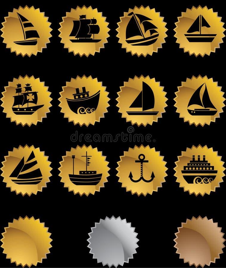 Zeevaart Webknopen - verbinding royalty-vrije illustratie