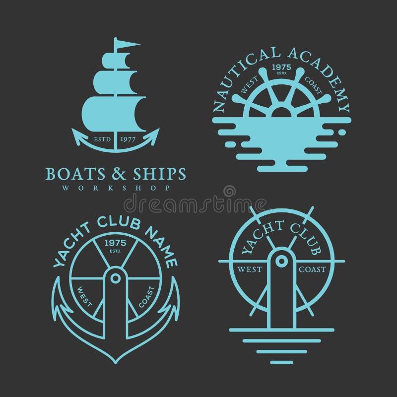 Zeevaartembleem stock illustratie