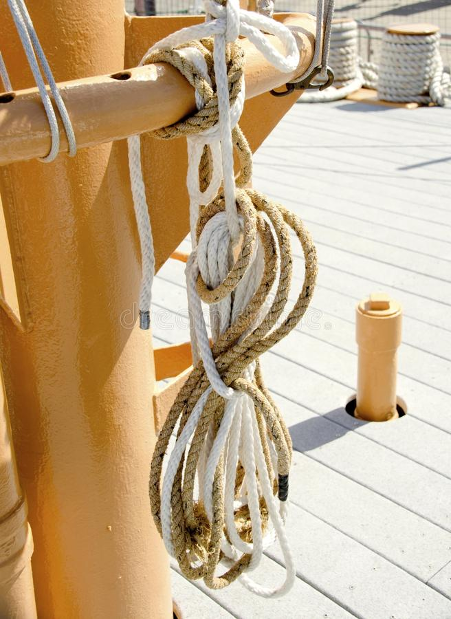 Zeevaartkabels royalty-vrije stock foto's