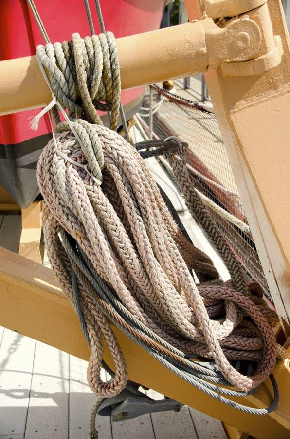 Zeevaartkabels stock afbeeldingen