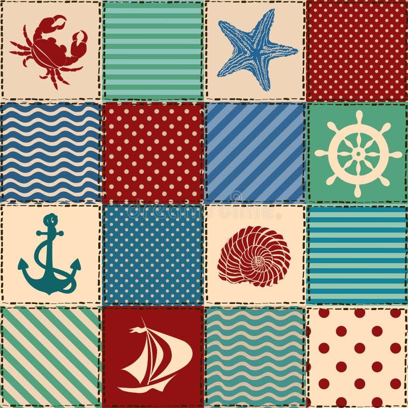 Zeevaartlapwerk naadloos patroon vector illustratie