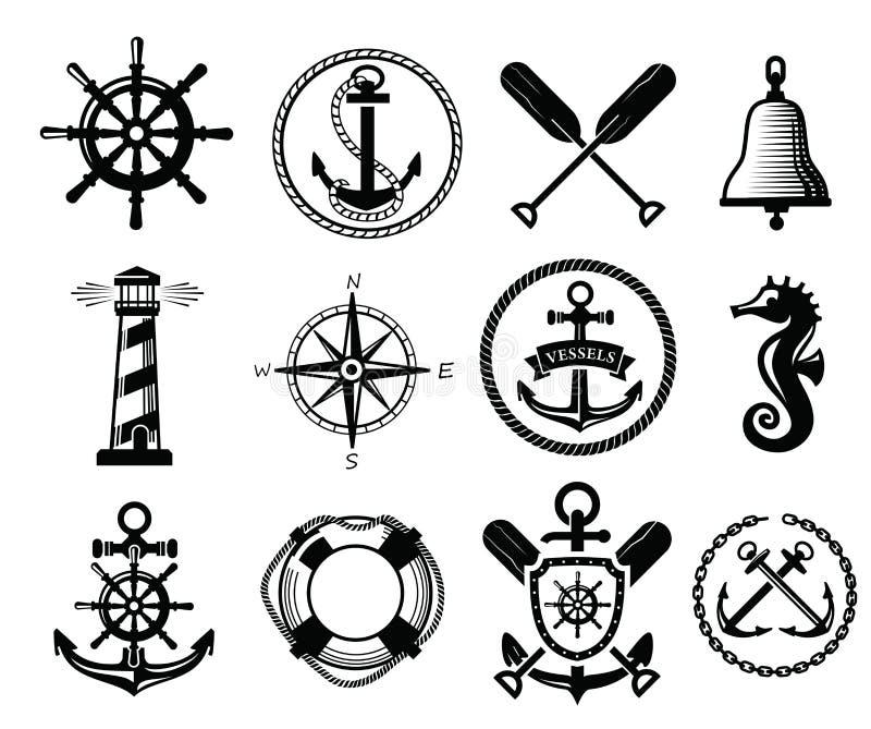 Zeevaartpictogram stock illustratie