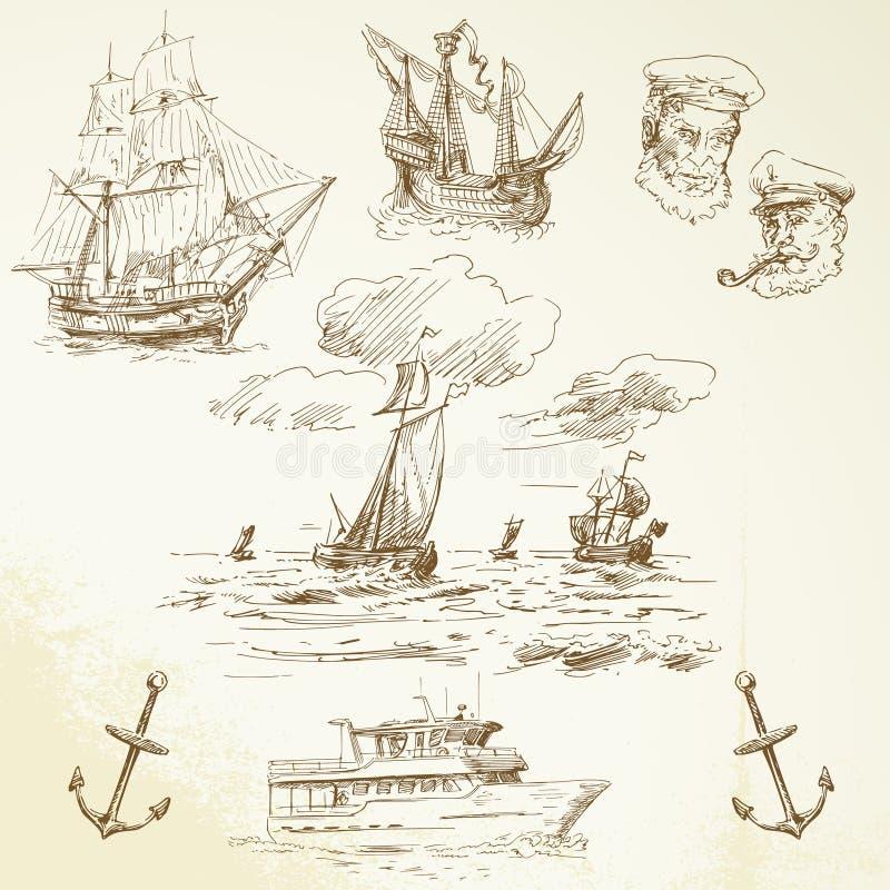 Zeevaartreeks stock illustratie