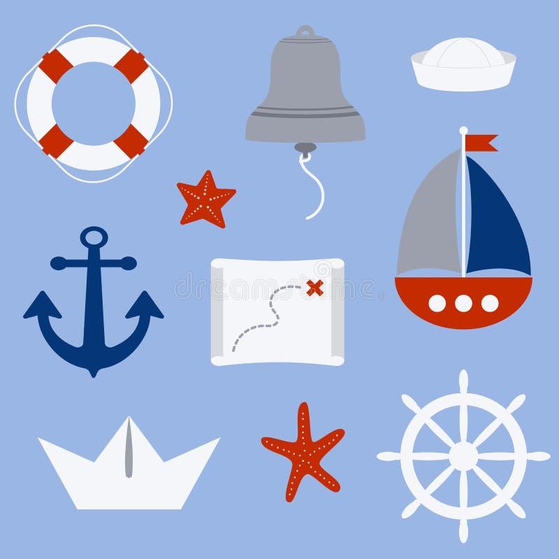 Zeevaartsymbolen stock foto's