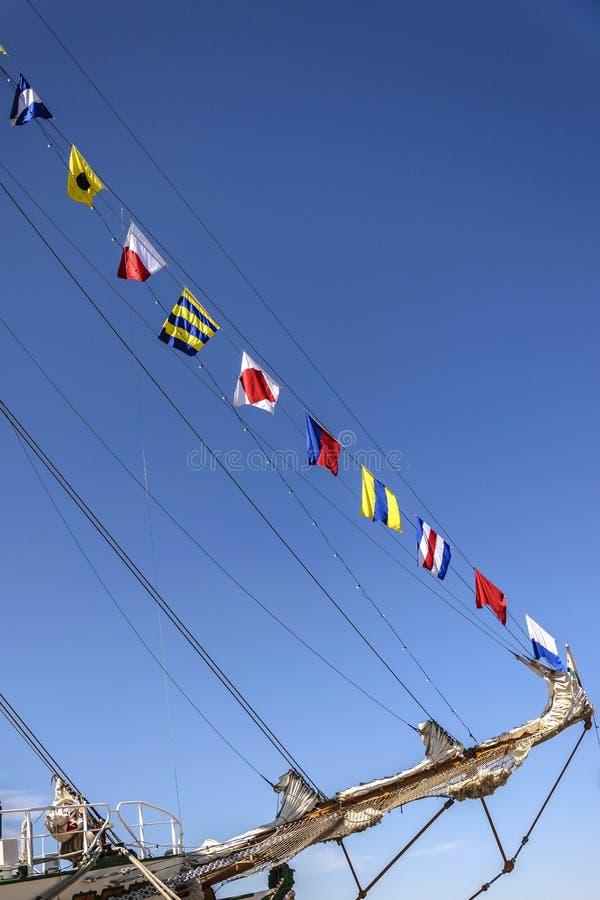 Zeevaartvlaggen royalty-vrije stock afbeeldingen