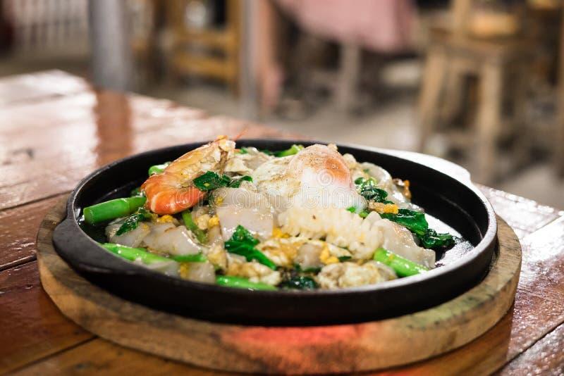 Zeevruchten Sukiyaki royalty-vrije stock afbeeldingen
