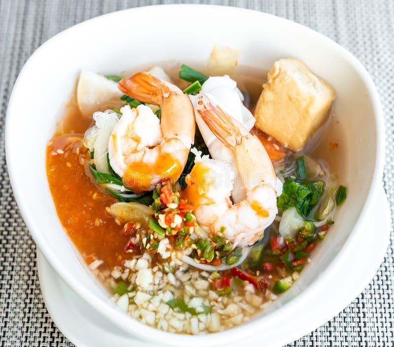 Zeevruchten Thaise sukiyaki stock afbeelding