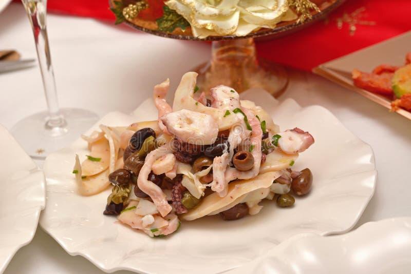 Zeevruchtensalade stock fotografie