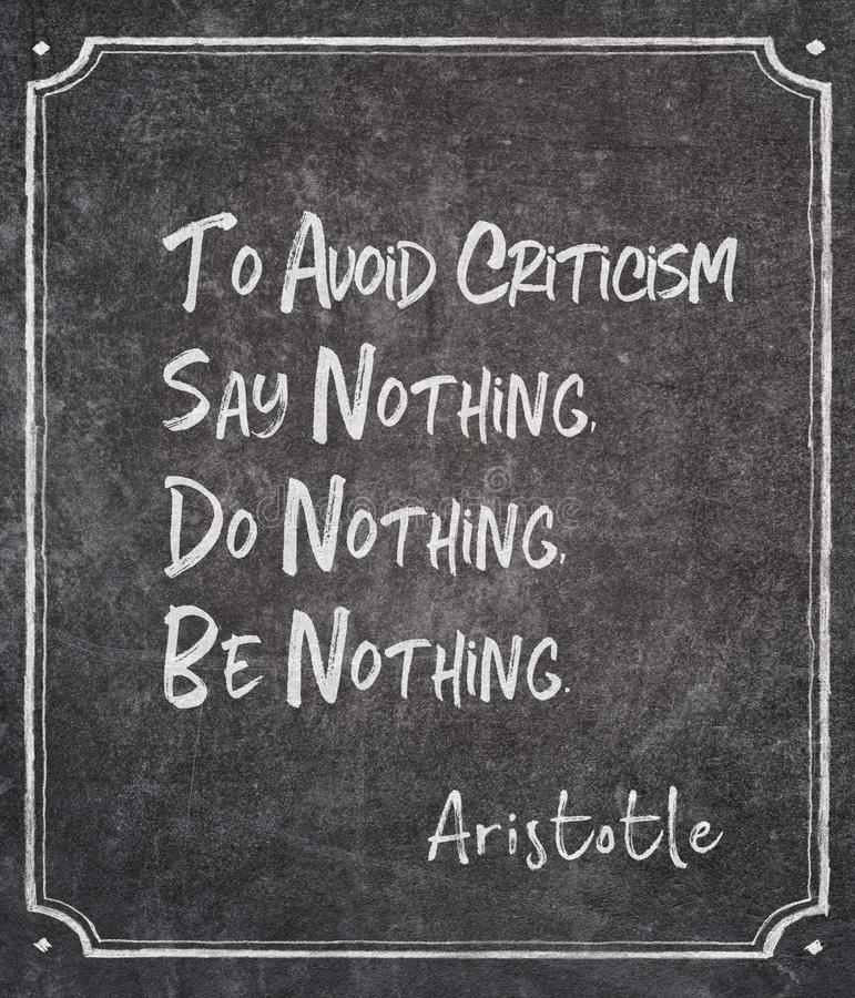 Zeg niets Aristoteles stock foto