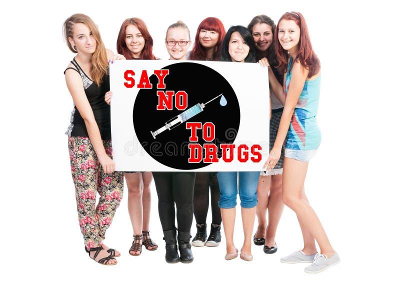 Zeg nr aan drugs royalty-vrije stock foto