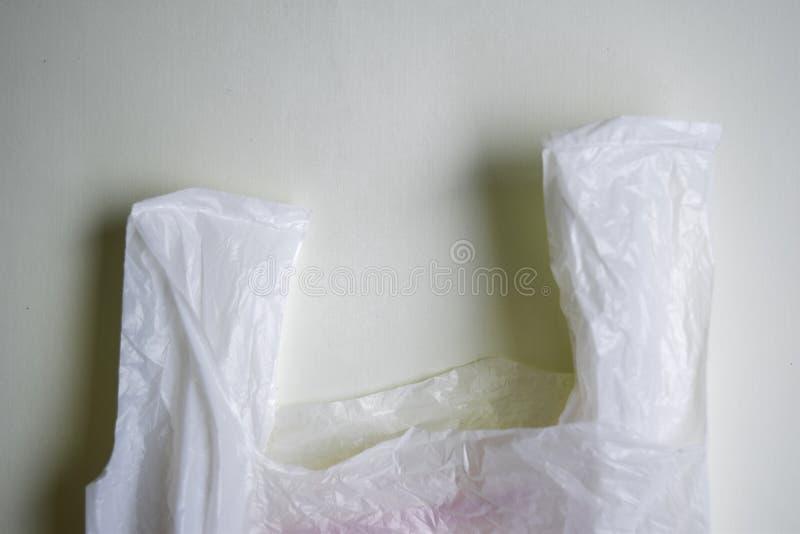 Zeg Nr aan Plastic Zakken - Niet meer Plastic Concept ge?soleerde witte achtergrond royalty-vrije stock fotografie